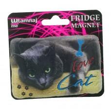 Magmet mačka Black